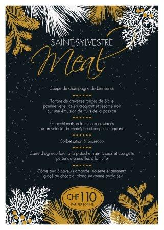 Lutry, İsviçre: Il menu di Capodanno alla Cantinetta.
