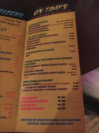 คิมบอลล์, เนบราสก้า: menu