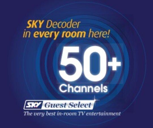 Palmerston North, Nuova Zelanda: 50+ Sky channels in each room!!