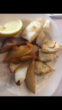 Llica d'Amunt, Spain: Calamares a la plancha
