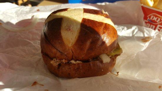Markle, Indiana: Kansas City BBQ pulled pork sandwich