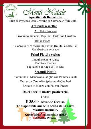Menu Di Natale Milano.Menu Di Natale Foto Di Da Sabatino Milano Tripadvisor