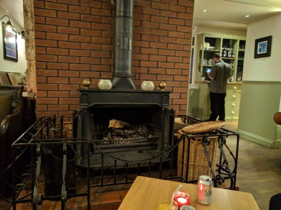 Lamlash, UK: Open fire in the bar area