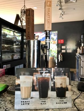 Wayne, PA: Indulge in a Latte on tap at Cafe Fleur located in The Cottage at Valley Forge Flowers.