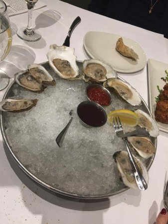 Potomac, MD: Our favorite dish: a dozen raw oysters spanning their entire selection