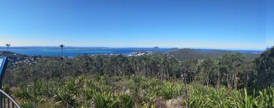 A panoramic view of Nelson Bay and surrounds from the Gan Gan Lookout.