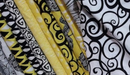 Guelph, Kanada: Some of the hundreds of cotton prints available in store