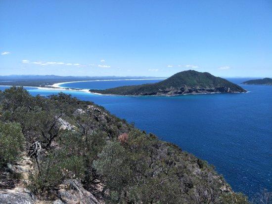 Shoal Bay, Australia: Jimmy's Beach, Bennetts Beach and Yacaaba Headlands across the Bay