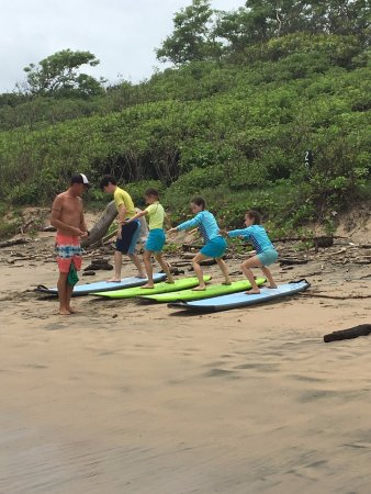 Surf Lessons for families, kids, grandparents. Playa Grande Costa Rica Surf Lessons- Frijoles Lo
