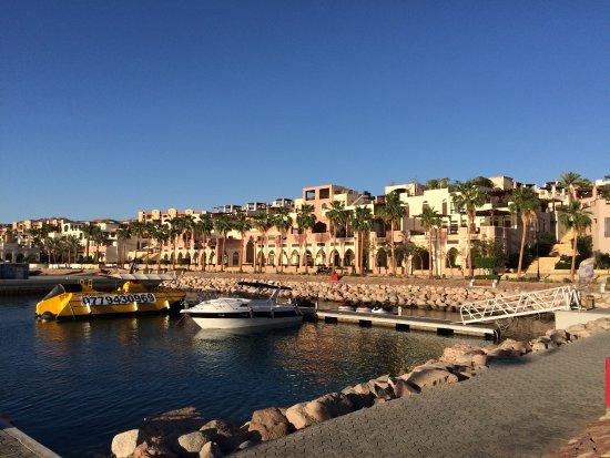 Grand Swiss-Belresort Tala Bay, Aqaba: port de plaisance en bas de l'hôtel