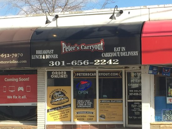 Peter's Carryout: View of Peter's from Wisconsin Ave