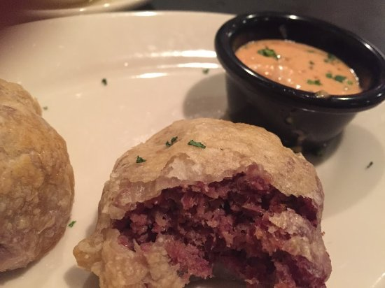 Zaftigs Delicatessen : Knish with corned beef inside