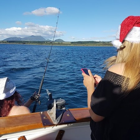 Taupo, New Zealand: The one that got away - but we did catch two beauties (trout)