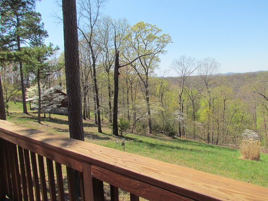Ridge Top Resort and Chapel: The view from the deck of our Wild Rose cabin, breathtaking.