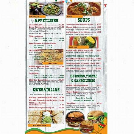 Temple, Teksas: Appetizers, Soups, Quesadillas, Burgers, tortas and sándwiches