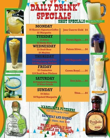 Temple, TX: Daily Bar Specials