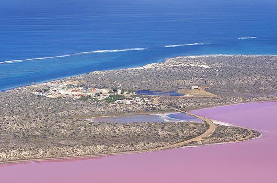 Hutt Lagoon Pink Lake Vuelo escénico