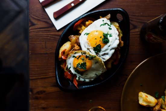 Collingwood, Australia: Chilean-style beef and chorizo chorillana