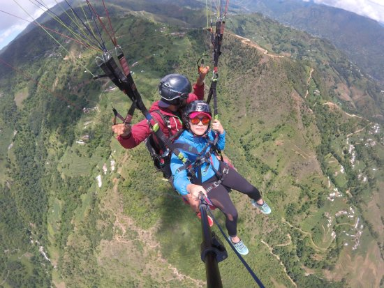 Нагаркот, Непал: nagarkot everest view paragliding