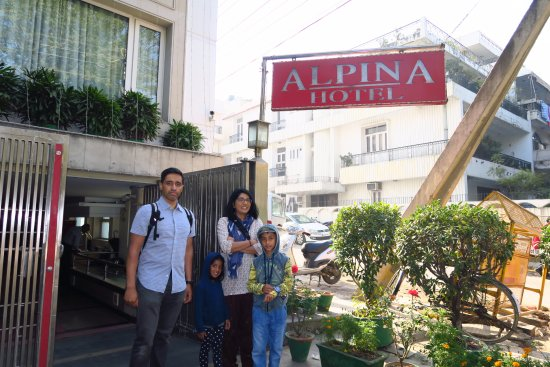 Alpina Hotels & Suites : Entrance. Not too flash, but we did not care!