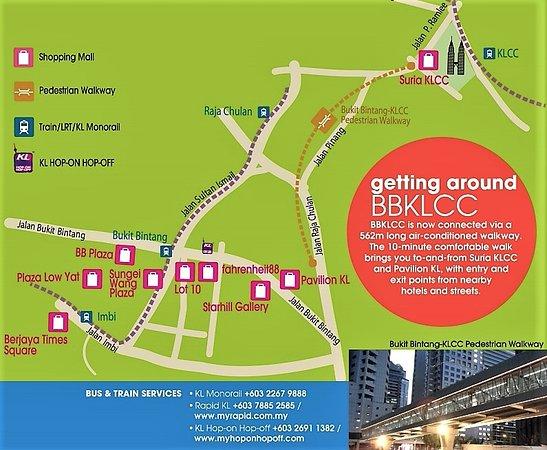 KLCC - Bukit Bintang Pedestrian Walkway: MAP
