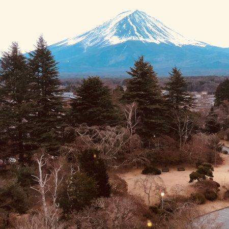 Average onsen hotel with beautiful Mt Fuji view