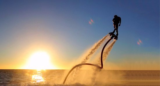 Anjuna, India: Fly Boarding for the first time in Goa by Explore Watersports