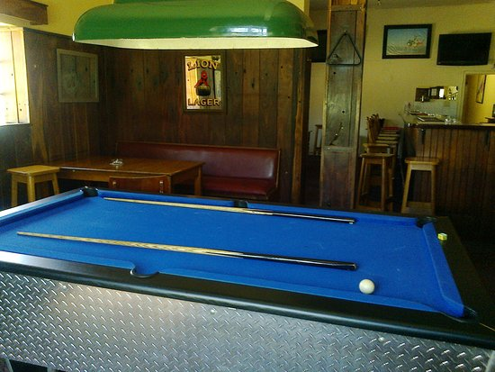 Tulbagh, South Africa: Pool table in our bar.