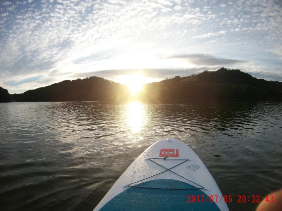 Dartmouth, UK: Sun downer SUP