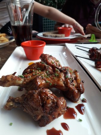El Meson: Tapas, Chicken Wings and the beef Pinchos Morunos