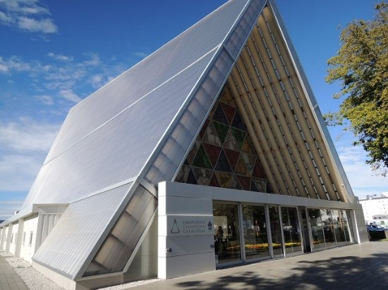 Picture of cardboard cathedral christchurch for Architects creative christchurch