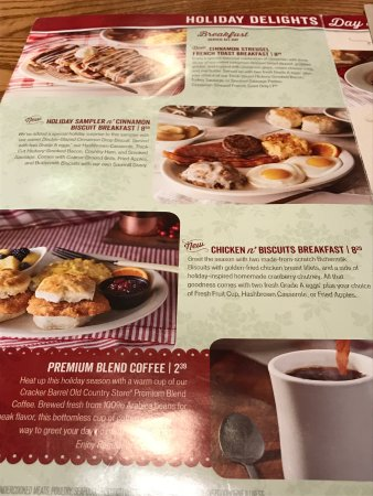 Cracker barrel elkton menu prices restaurant reviews for Is cracker barrel open on christmas day
