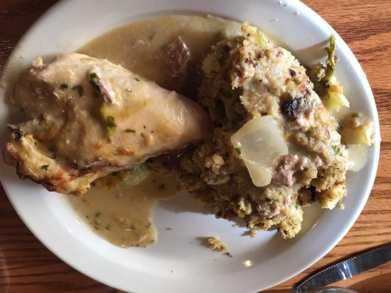 Mount Vernon, IL: chicken with dressing