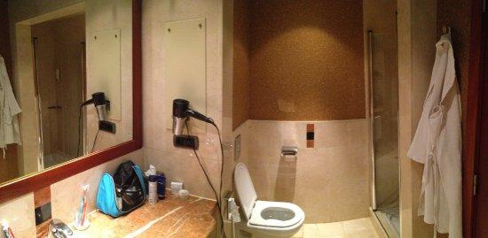 Grote badkamer met bad en douche - Picture of Lopesan Costa ...