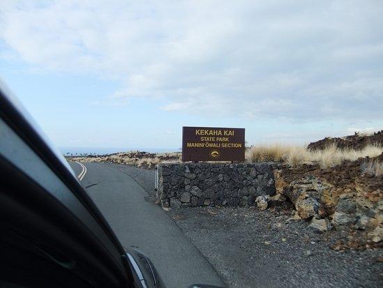 Manini'owali Beach (Kua Bay): 入口です