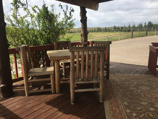 Bruneau, ID: Outdoor dining and view