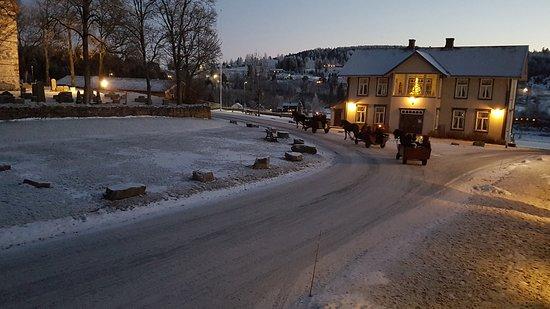Коммуна Гран, Норвегия: Hos oss ordnes kanefart, en ekstra hyggelig opplevelse under besøk vinterstid.