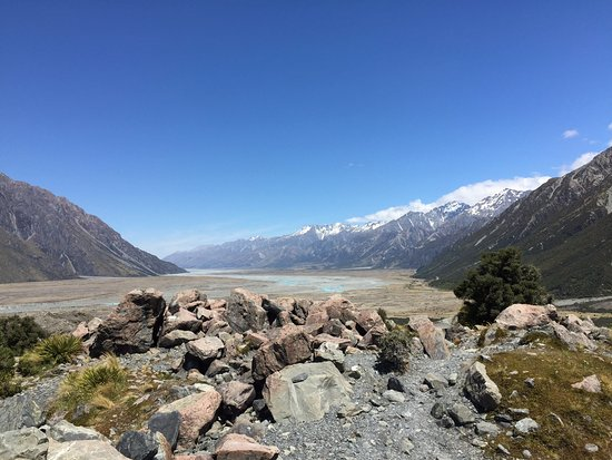 Tasman Glacier: Opposite view at the viewpoint