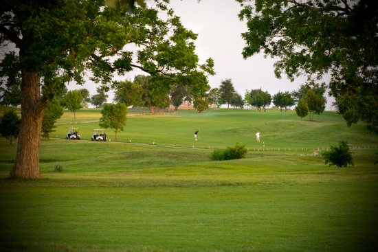 McKinney, TX: Some golfers enjoying our 14th hole. From the fairway of course!