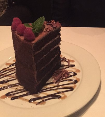 Mastro's Ocean Club : Chocolate Cake big enough to share!