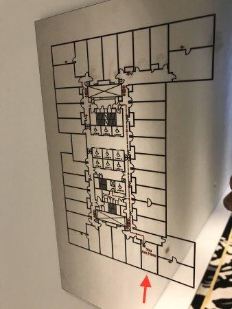 17th floor plan marked room 1733 premier room for 17 th floor