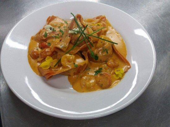 Homemade pasta -Lobster Ravioli