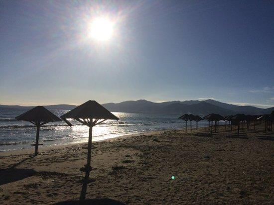 Attica, Grecia: Schinias beach, before sunset in winter.