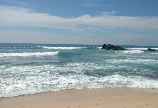 Talpe, Sri Lanka: The beach just behind the villa.