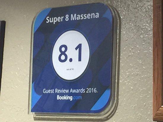 Massena, Estado de Nueva York: Booking.com Rating Sign
