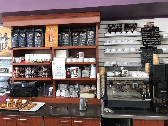 Bitton Bistro Cafe : Strong double espresso area.