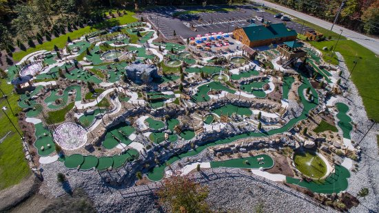 Hooksett, Νιού Χάμσαϊρ: Aerial view of new courses!