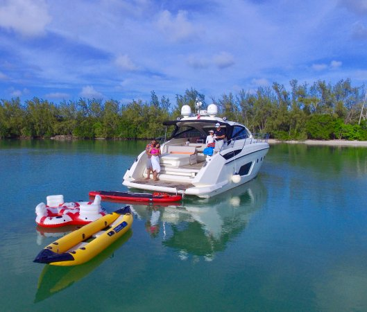 Miami Beach, FL: Family boat charter with ton of water toys!
