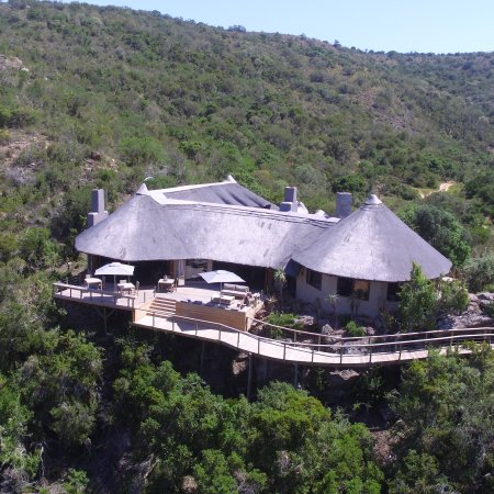 Sidbury, แอฟริกาใต้: An overview of the lodge with the drone