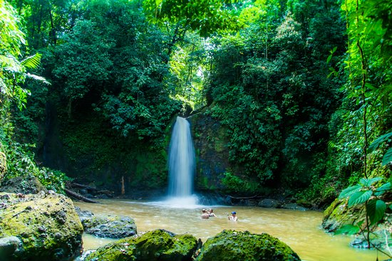 Leaves and Lizards Arenal Volcano Cabin Retreat: The private waterfall you can swim in on the horseback riding tour